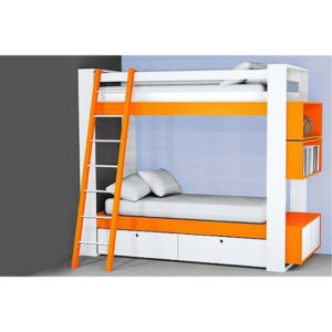 beautiful, bed, bunk bed, cabinets, children, colors, drawers, furniture, mattress, stylish, Wood