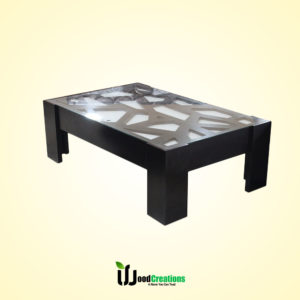 Stone Style Glass Top Center Table