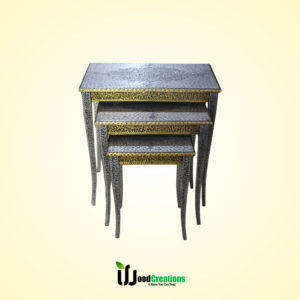 Historic Style Net Table Set 3 Pcs - Silver