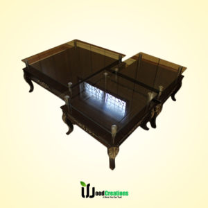 Center Glass Top Center Table Set