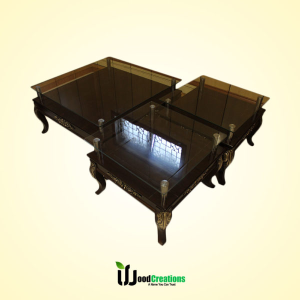 Center Glass Top Center Table Set & Center Glass Top Center Table Set | WoodCreations