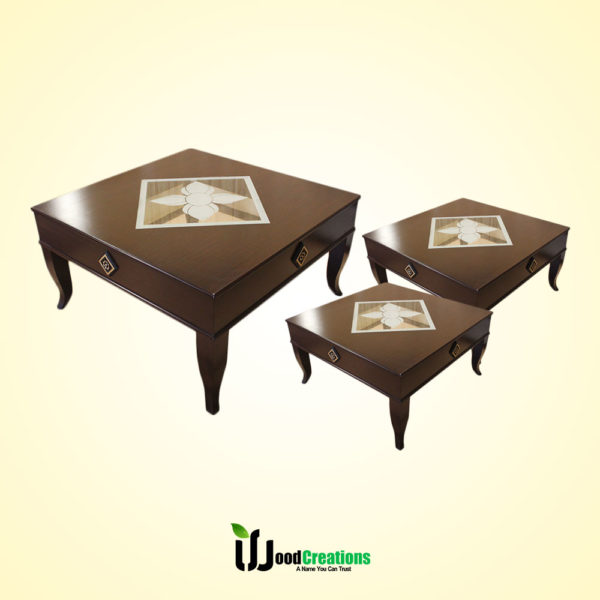Center Glass Top Center Table Set & Modern Center Table Set | WoodCreations