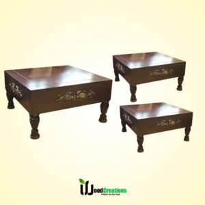 Cube Style Center Table Set for Office & Living