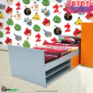 Bed With Storage Orange