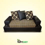 Black Combination Style Sofa Set with Cushions