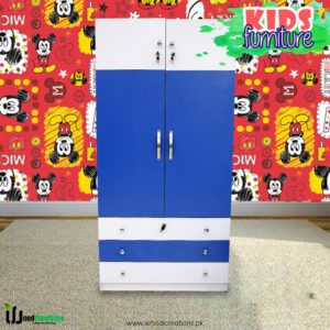 Kids Wardrobe Blue & White