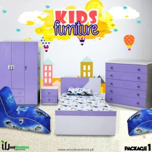 Kids Bed Room Set Purple