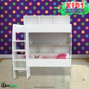 Kids Bunk Bed Brilliant White For 2 Children's