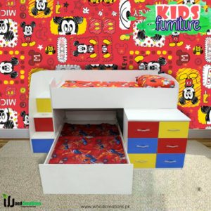 Kids Bunk Bed Multi Color For 2 Children's