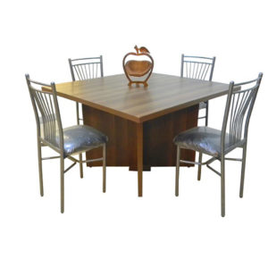 Dinning Table 4 Chairs Chair Economical Furniture Wood